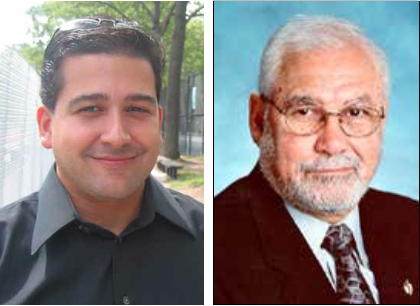 """Former CB7 district manager Fernando Tirado (left) is vying for the seat of Assemblyman Jose Rivera of the 78th Assembly District (right). Tirado has labeled Rivera an """"empty seat.""""  File photos"""