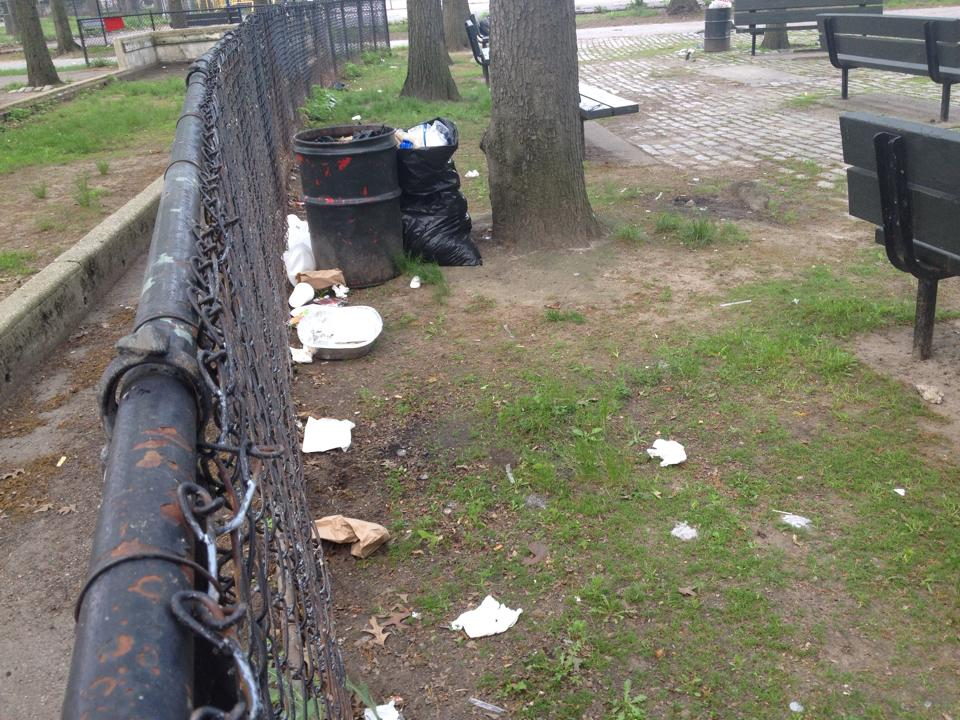 Barbecue cookout crackdown! Police hope residents heed the warning: barbecuing on park grounds is illegal. Photo courtesy Betty Diana Arce