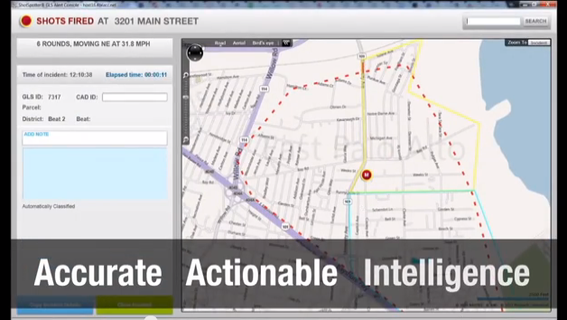 SHOTSPOTTER technology is arriving to the 52nd Precinct as a way to deter gun violence. Here a promotional video demonstrates how the program works.  Video image still courtesy ShotSpotter