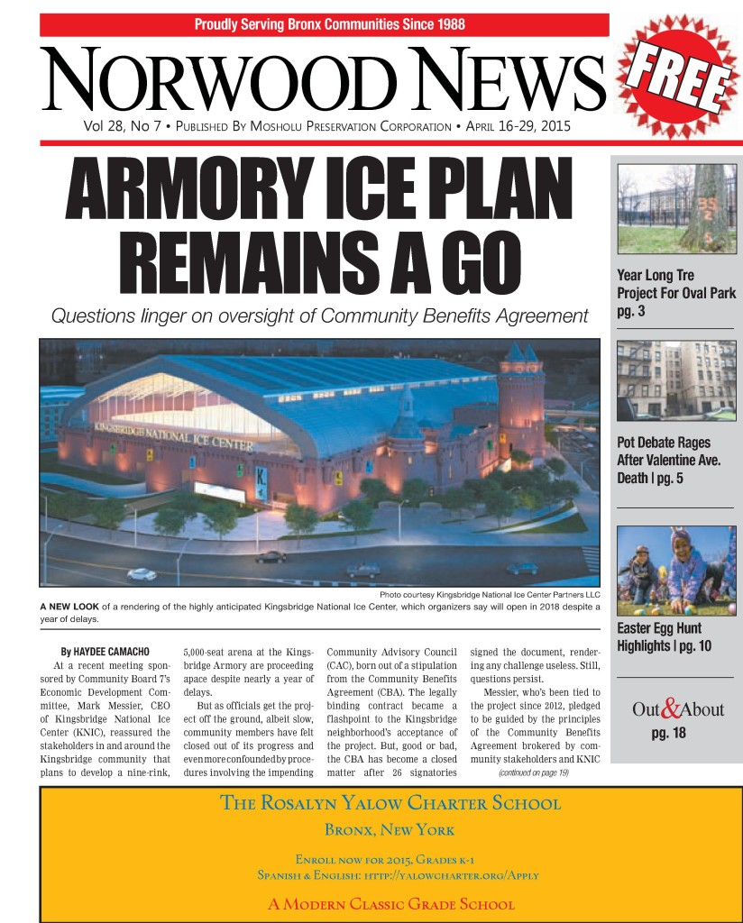 Norwood News Vol. 28 No. 8 Front Page