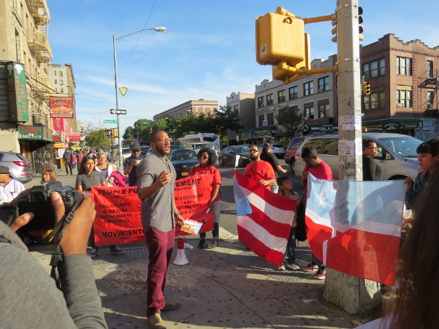 People Power Movement, in Kingsbridge, Demands Puerto Rican Liberty