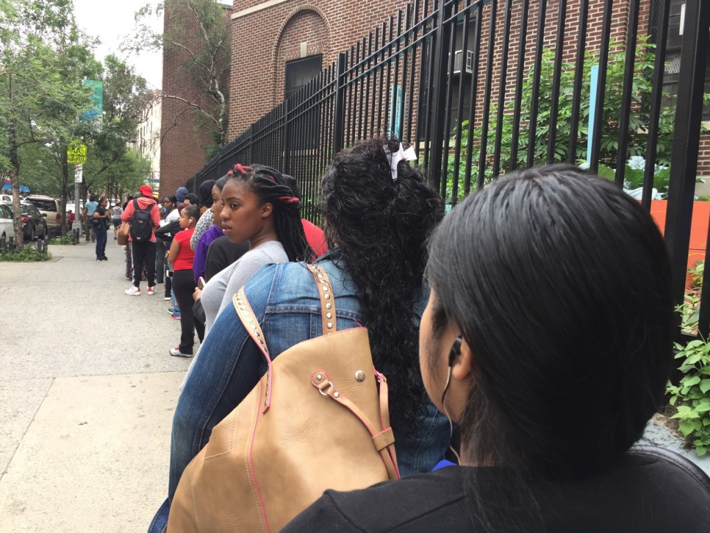 for teens finding work a job unto itself norwood news finding a job is tough work for teens standing at a long line outside mmcc