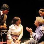 SONGS OF HARLEM RIVER - Michael Jones, Michele Cannon, Carol Carter and Jessie Jordan in Xoregos Performing Company's Songs of Harlem, presented from August 30 to September 6 by Theater for the New City's 2015 Dream up Festival. Photo by Aurelie Camus